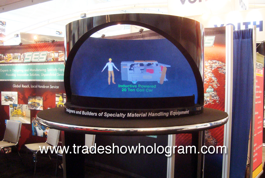 3D Hologram Projector at Trade Show