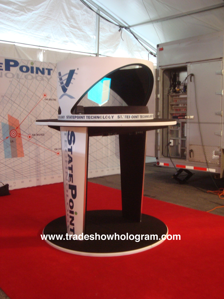 Hologram Projector for trade shows.