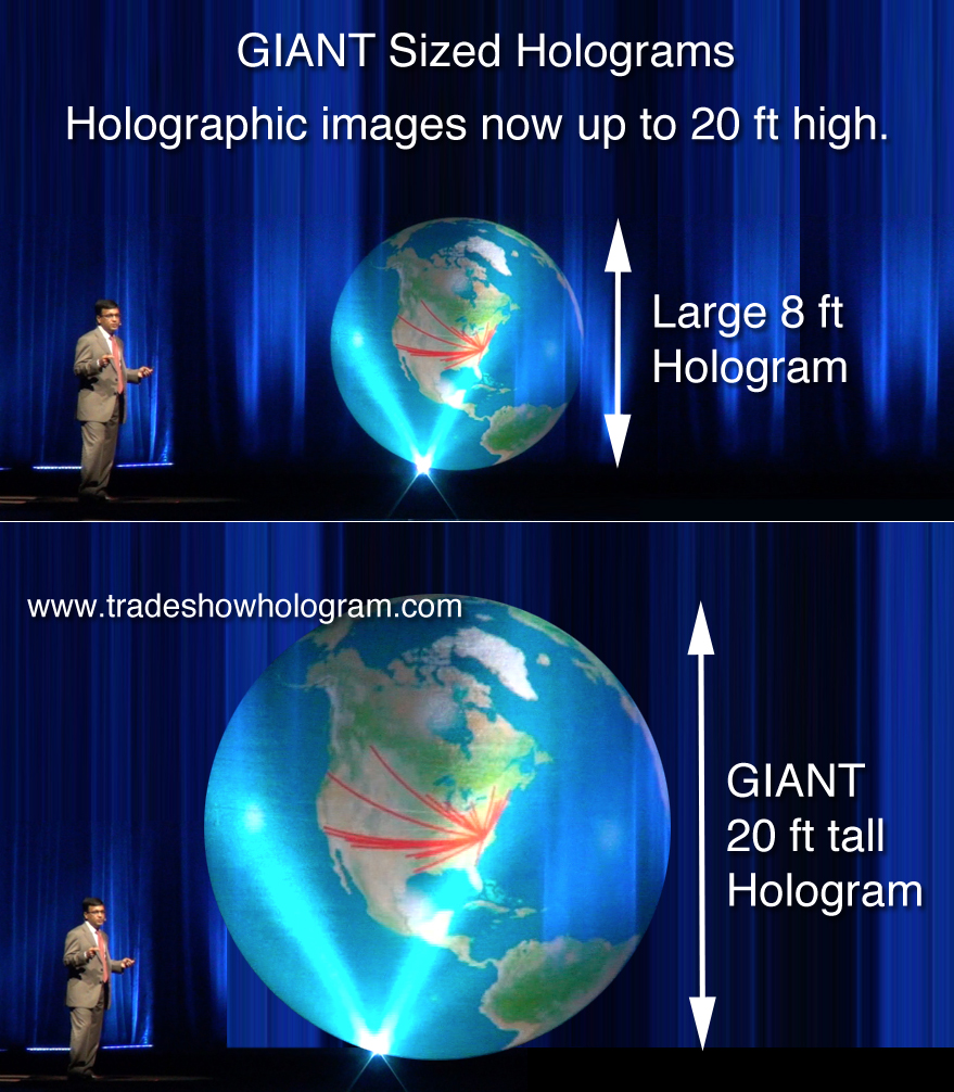 giant hologram projector 3d