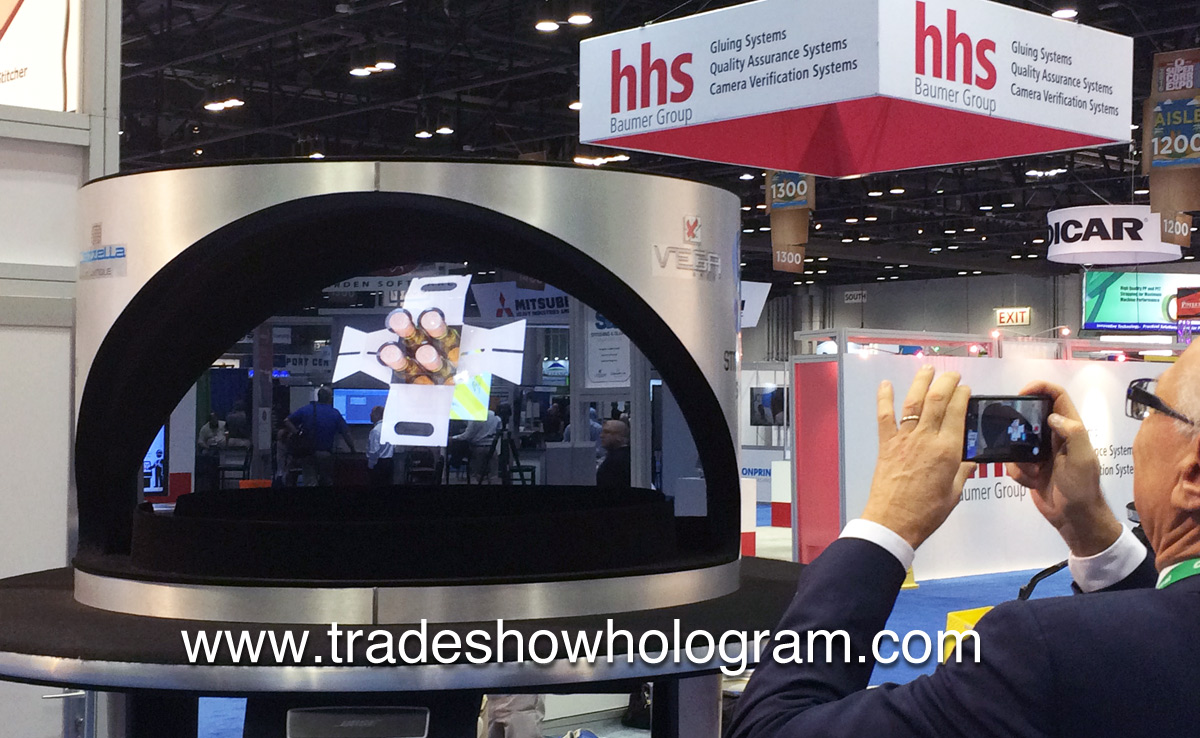 holographic projector, trade show