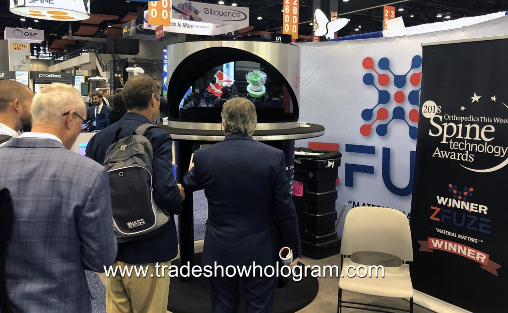 holograms attract attention at trade show booth